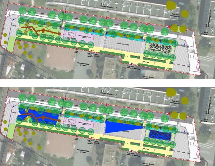 Etude d'inondabilité partielle des espaces - Mail Salengro