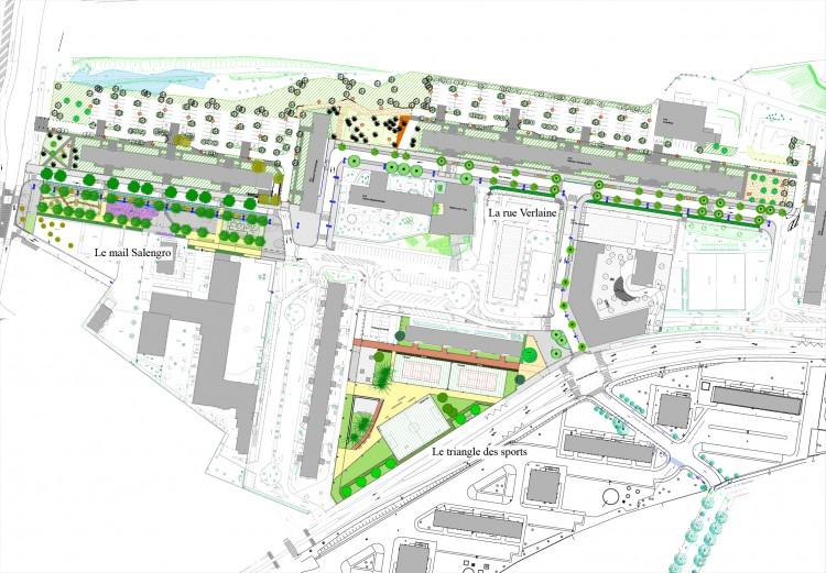 Plan des 400 nord avec repérage des projets
