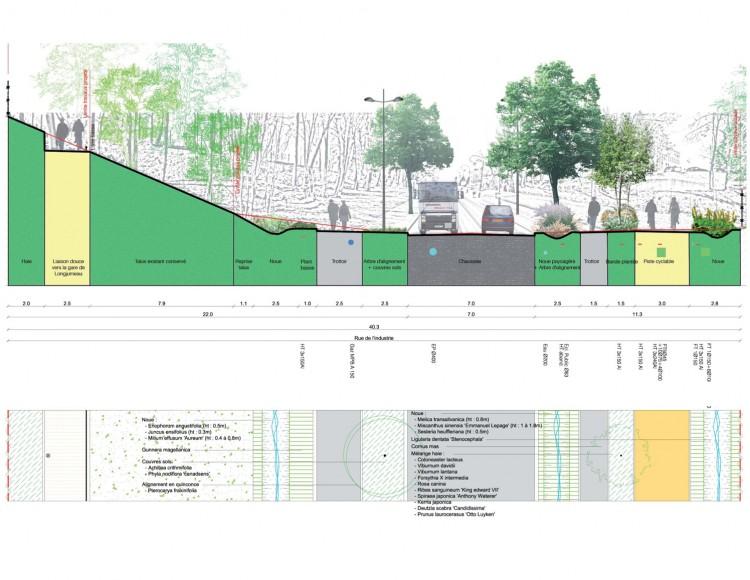 Coupe type Route de Longjumeau