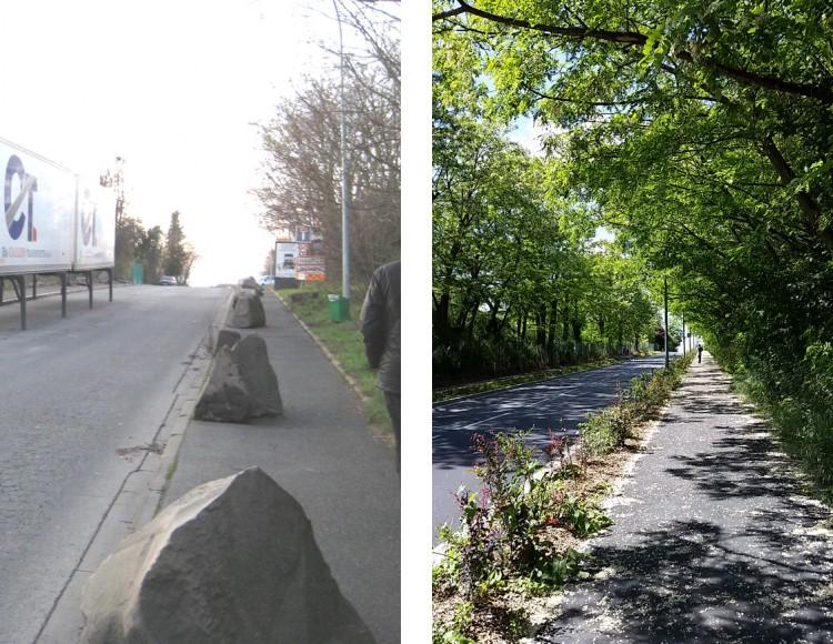 Rue du Chemin Blanc Avant / Après