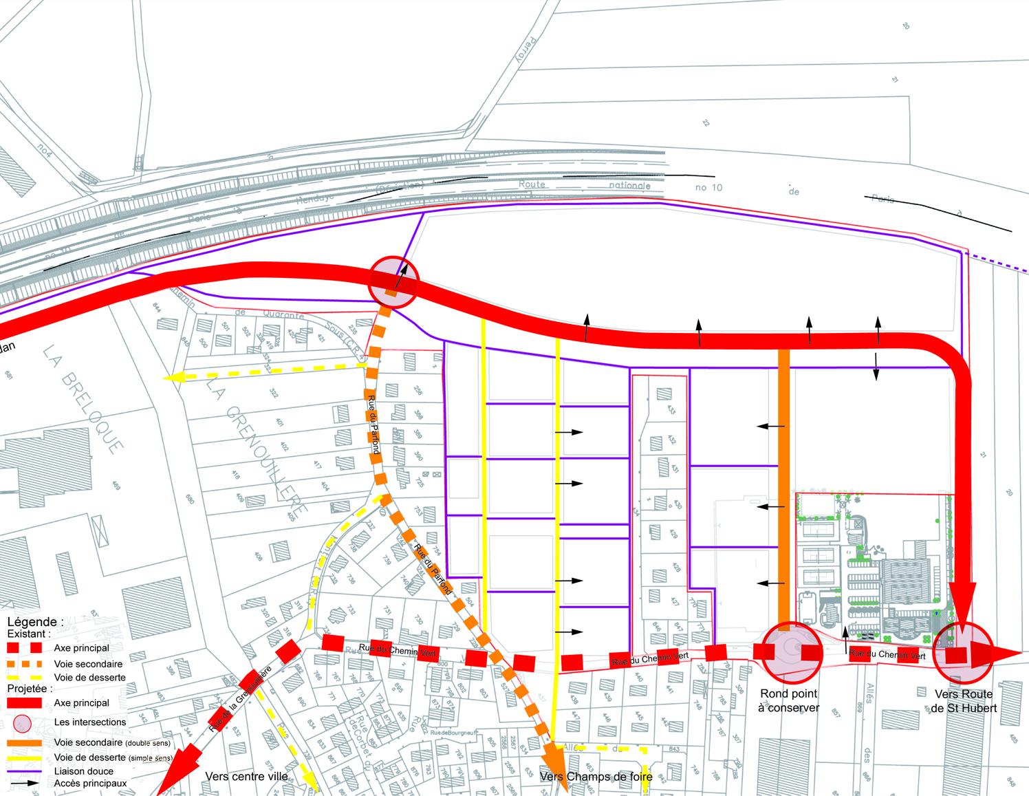 Plan Ville Le Perray En Yvelines