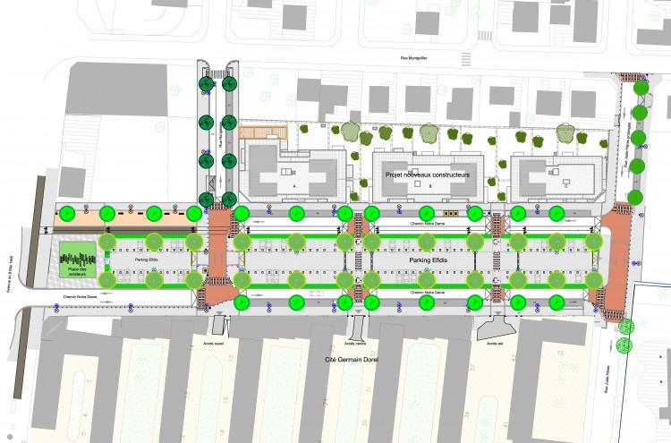 Plan d'aménagement du Chemin Notre Dame