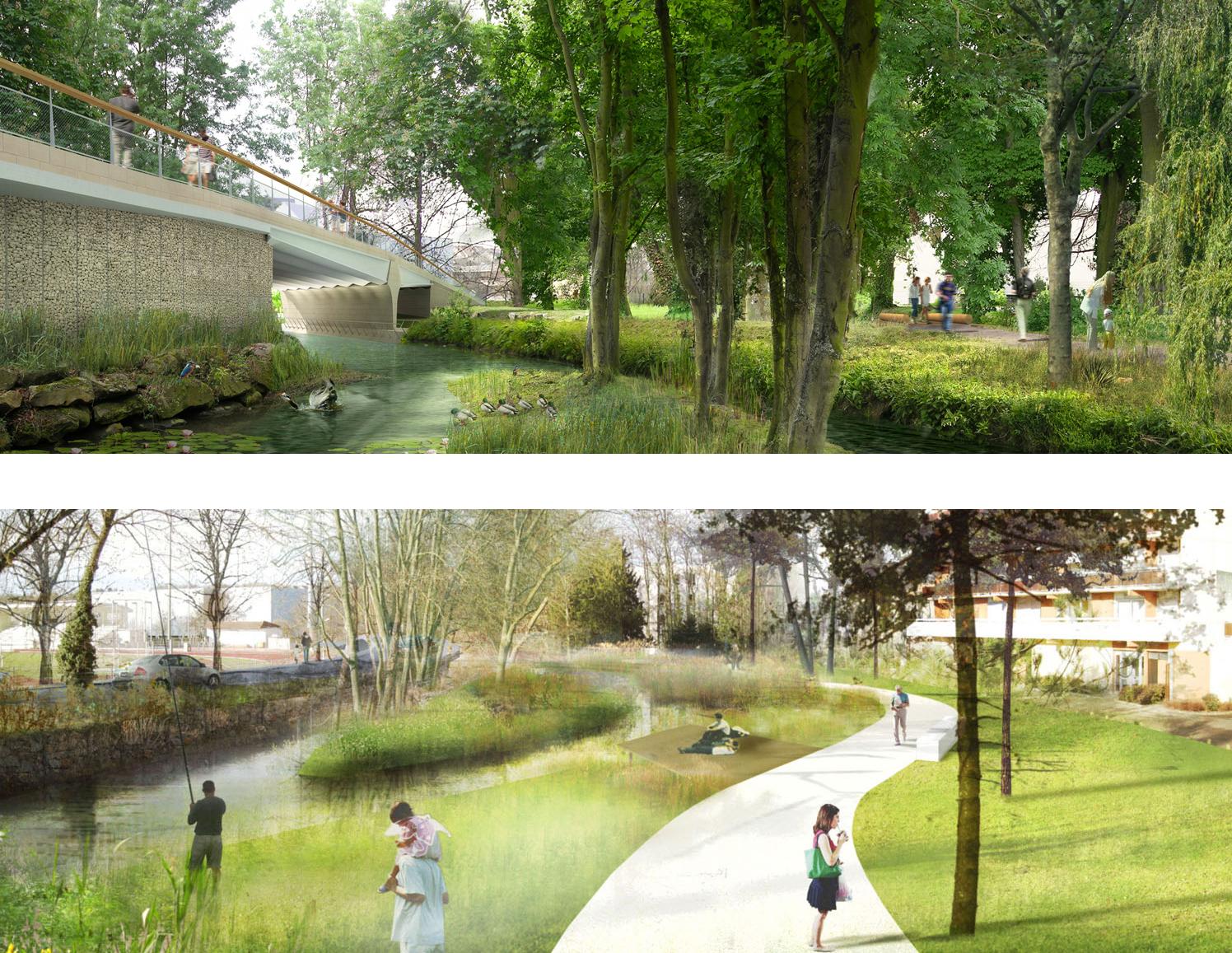 construction d une voie nouvelle au centre ville rue dablin dreux 28 urbanisme agence. Black Bedroom Furniture Sets. Home Design Ideas